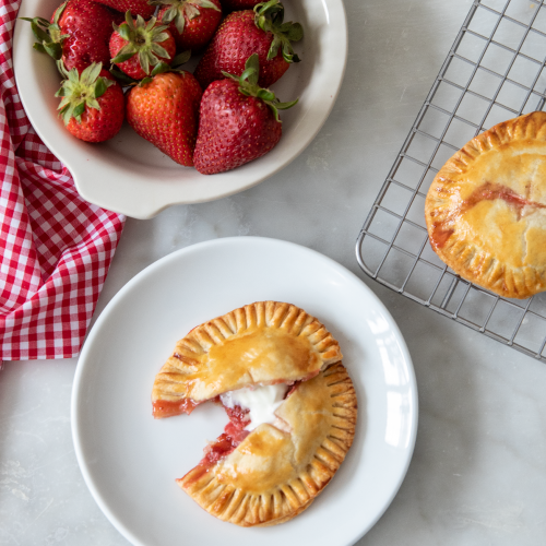 Strawberry Rhubarb Quark Handpies