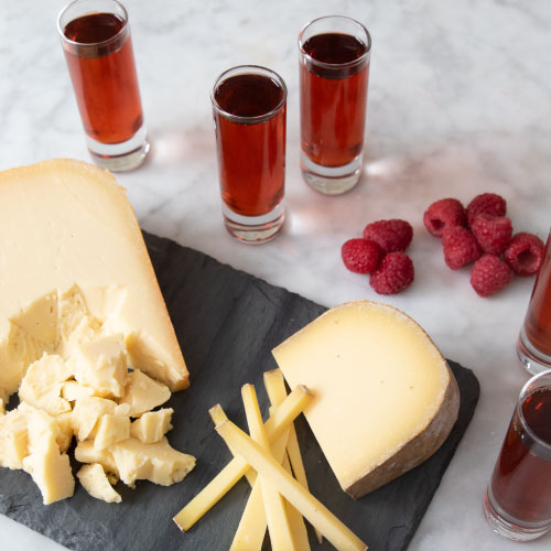 The Frolicking Raspberry Cocktail with Cheese Pairings