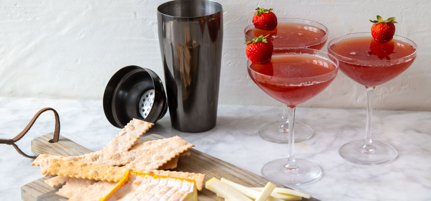The Strawberry Cosmonaut Cocktail with Cheese Pairings