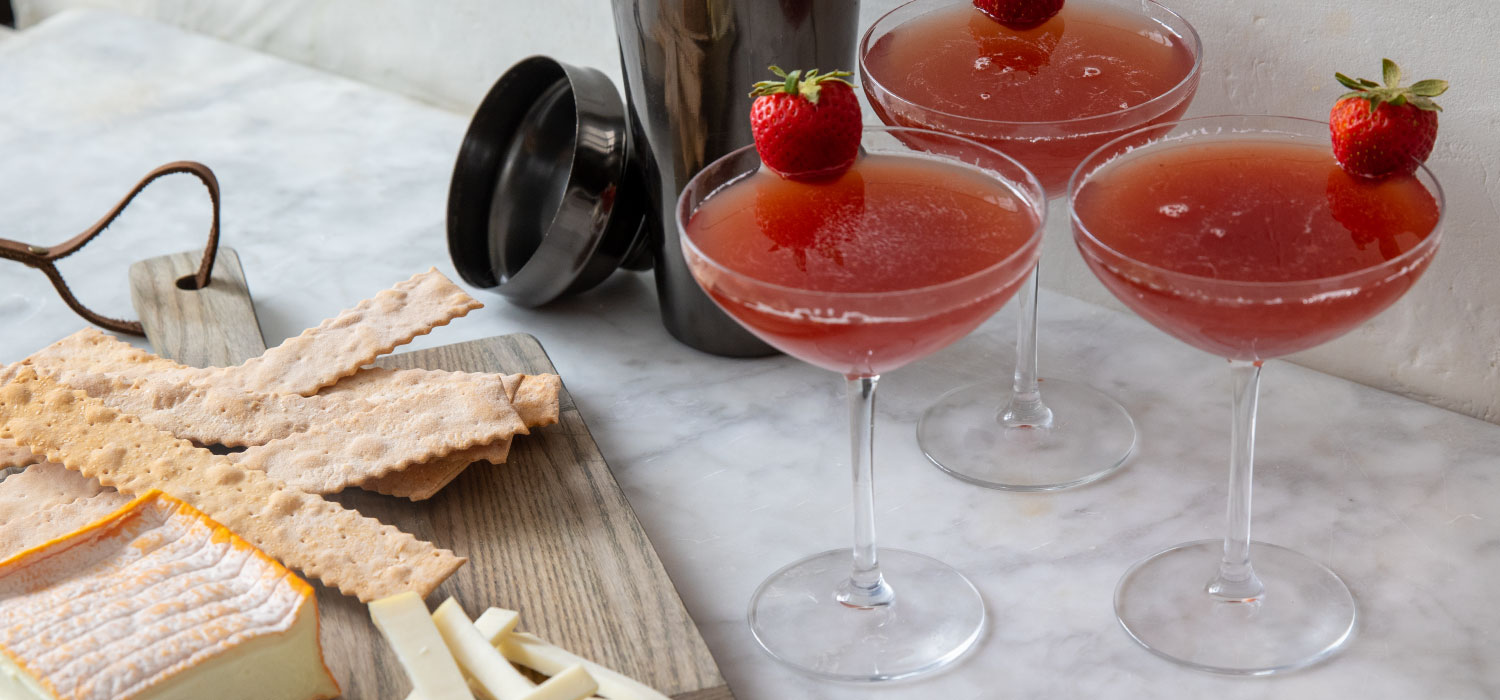 The Strawberry Cosmonaut Cocktail with Cheese Pairings 2