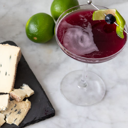 The Summertime Blues Cocktail with Cheese Pairings