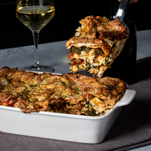 Spinach, Chickpea and Artichoke Lasagna