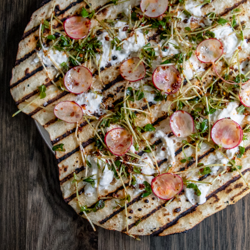 Stracciatella Grilled Pizza by Violet