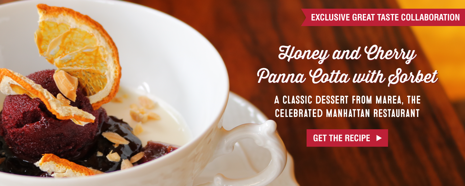 Honey and Cherry Panna Cotta