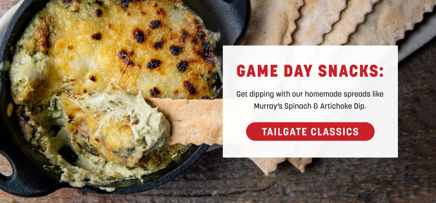 Game Day Snacks: Murray's Spinach and Artichoke Dip