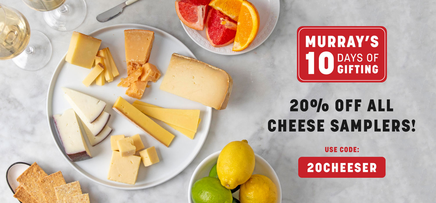 Black Friday Sale: 20% Off All Cheese Samplers